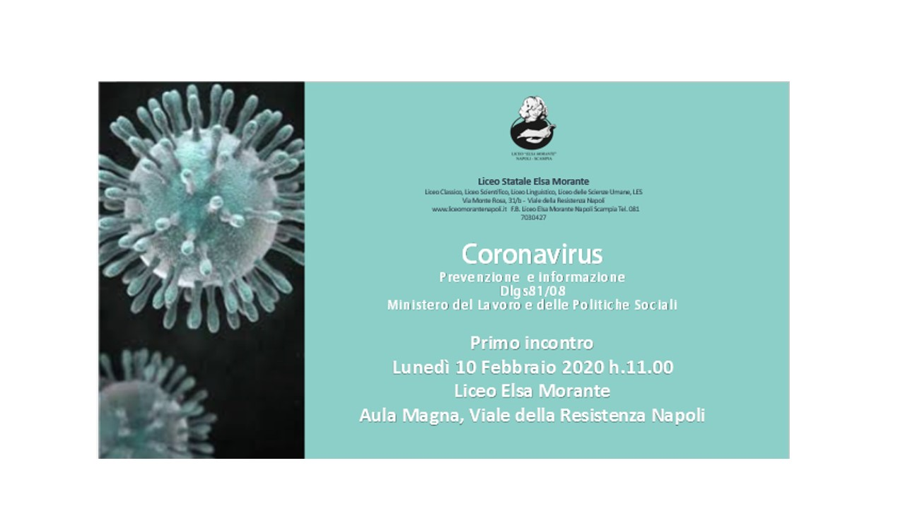 Coronavirus: prevenzione e informazione