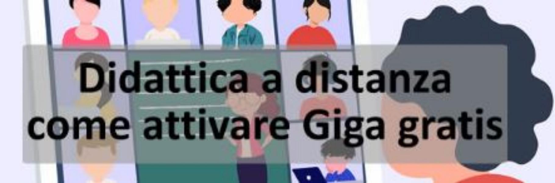 DIDATTICA A DISTANZA, ECCO COME ATTIVARE L'OFFERTA PER I GIGA GRATIS AGLI STUDENTI