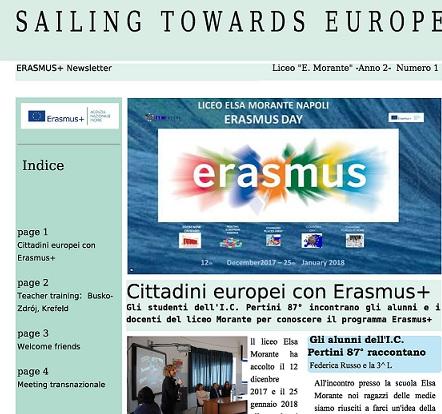 Newsletter Erasmus +  N.1  Anno 2