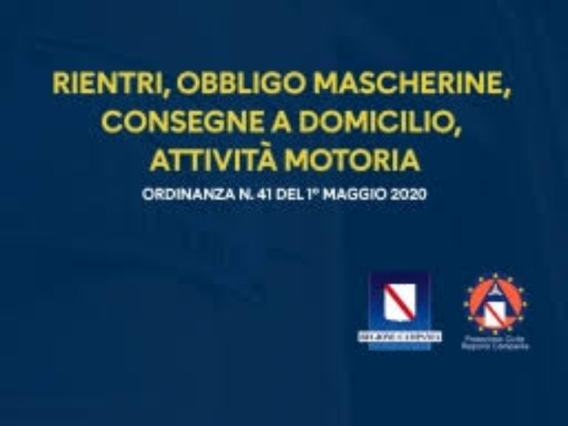 Ordinanza n. 41 del 01/05/2020 Presidente Giunt...
