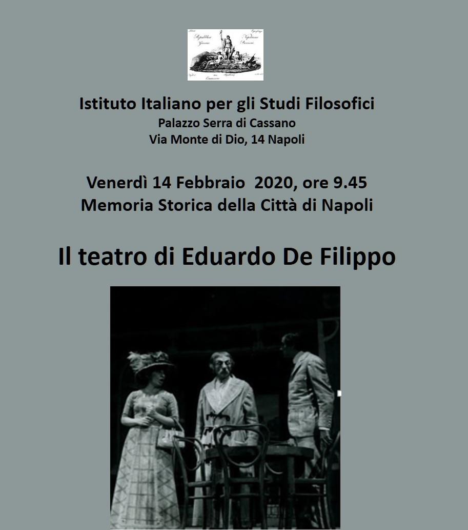 Memoria Storica della città di Napoli 2019-2020 : Venerdì 14 Febbraio h 9.45